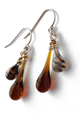 Brown Swirl Duet Earrings