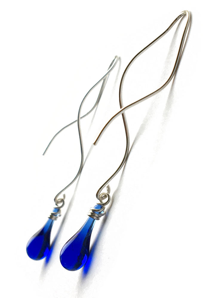 Illusion Earrings - glass Earrings by Sundrop Jewelry