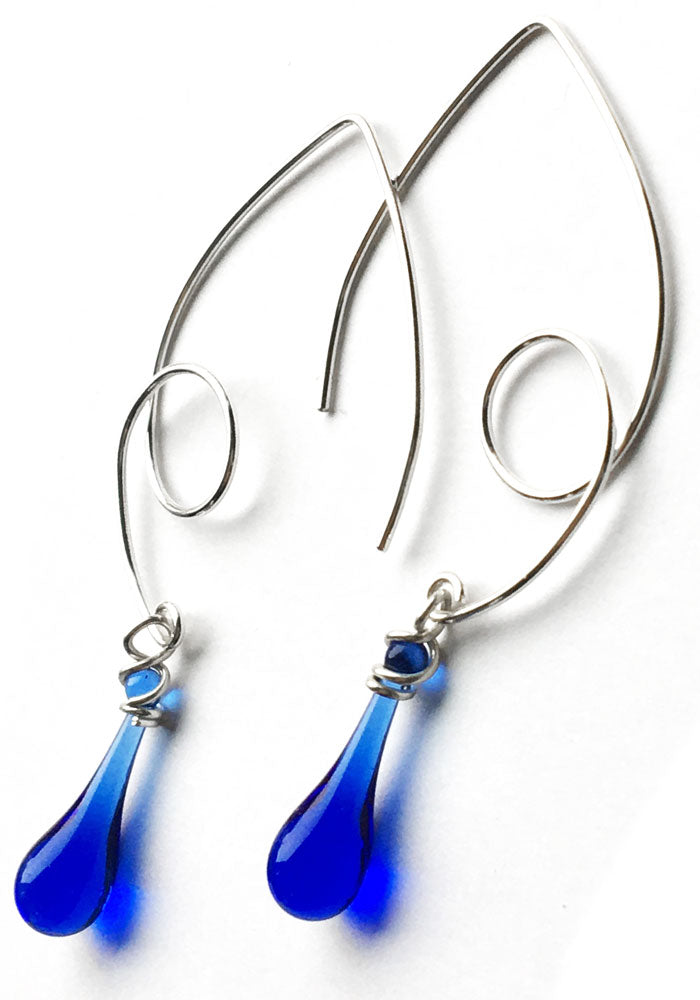 Loop-de-Loop Earrings - glass Earrings by Sundrop Jewelry
