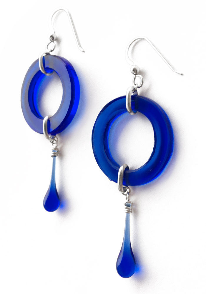 Meteor Earrings - glass Earrings by Sundrop Jewelry