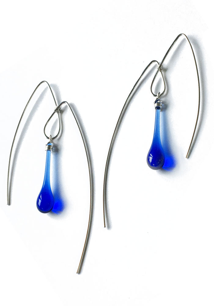 Mountain Earrings, large - glass Earrings by Sundrop Jewelry