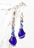 September's birthstone color - sapphire blue glass jewelry