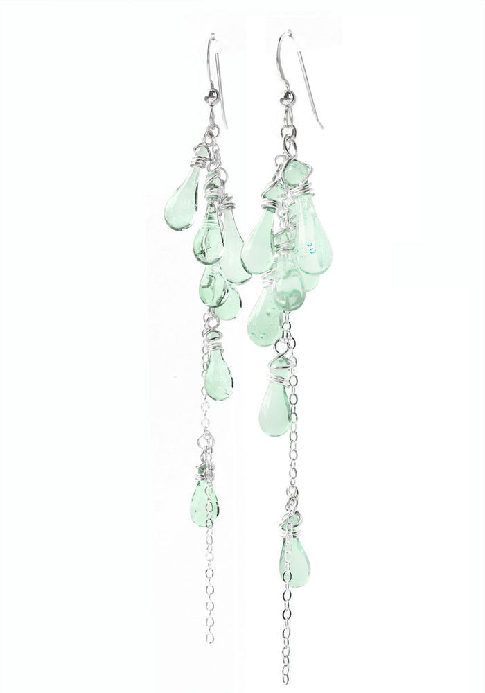 Lanata Earrings - glass Earrings by Sundrop Jewelry