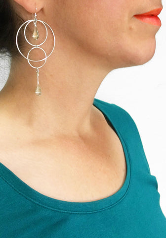 Orbital Motion Earrings, large