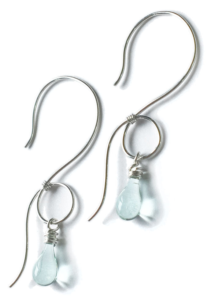 Curly Vine Earrings - glass Earrings by Sundrop Jewelry