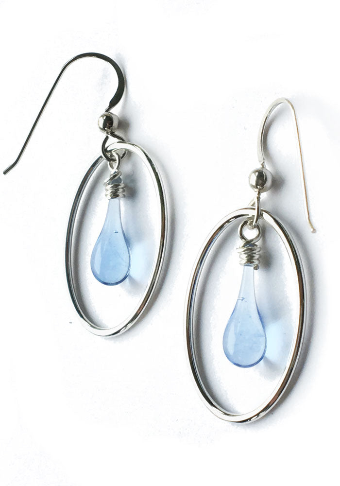 Dew Drop Cameo Earrings - glass Earrings by Sundrop Jewelry