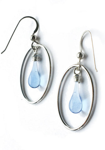 Dew Drop Cameo Earrings