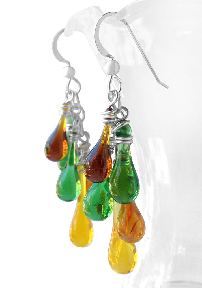 Cascade Earrings - glass Earrings by Sundrop Jewelry