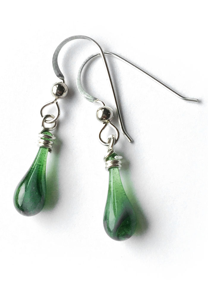 Fiddlehead Demi Earrings - glass Earrings by Sundrop Jewelry
