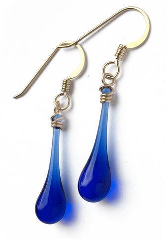 Cobalt Solaris Earrings - gold-fill