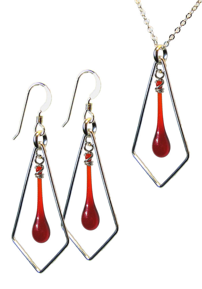 Kite Jewelry Set - glass Jewelry Set by Sundrop Jewelry