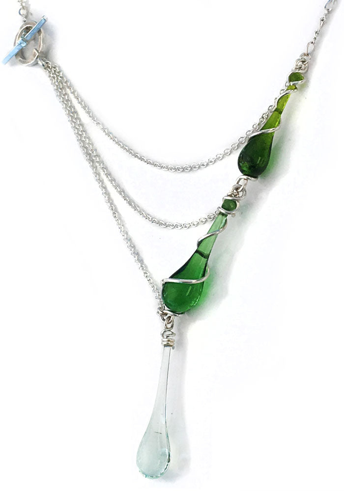 Aurora Necklace - glass Necklace by Sundrop Jewelry