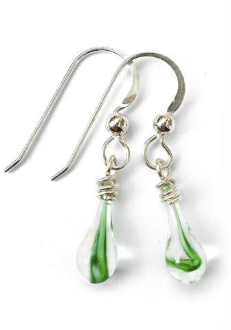 Green Tornado Demi Drop Earrings