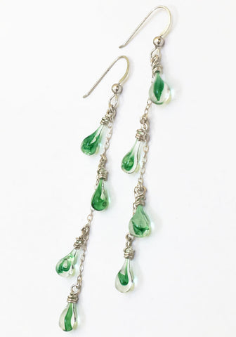 Green Tornado Vinyas Earrings