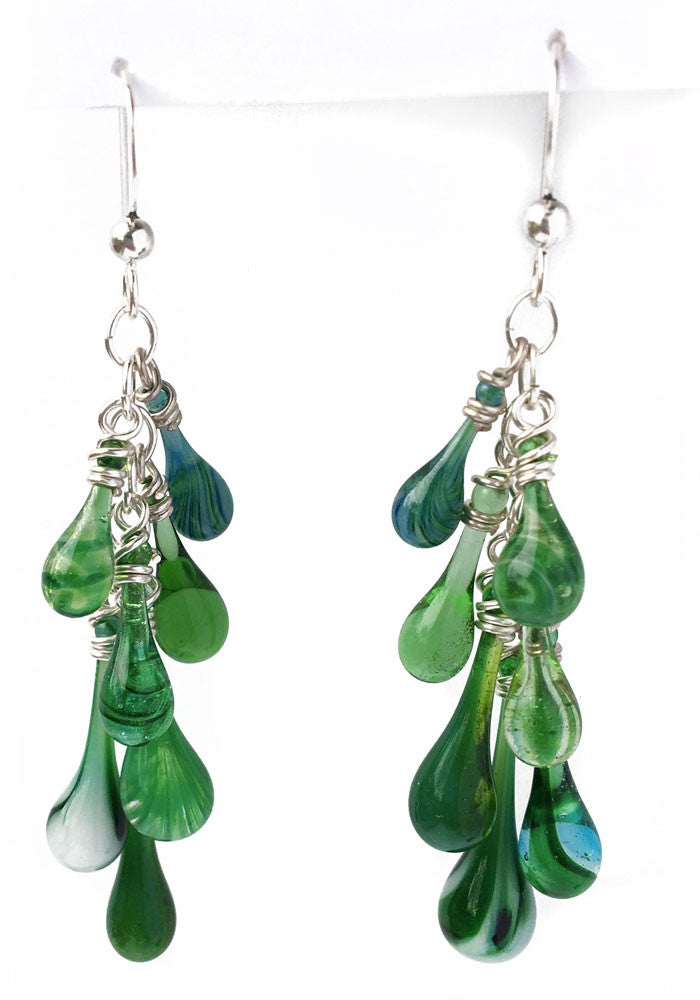 Mixed Greens Waterfall Earrings
