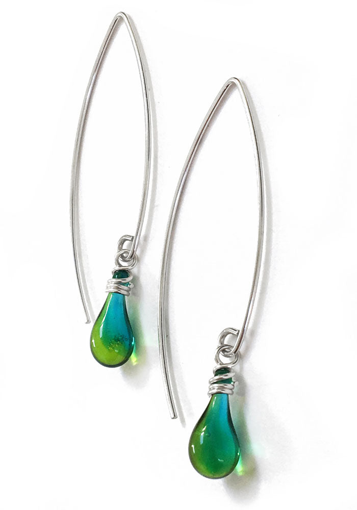 Marquise Earrings - glass Earrings by Sundrop Jewelry