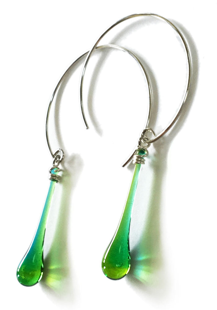 Circle Earrings, medium - glass Earrings by Sundrop Jewelry