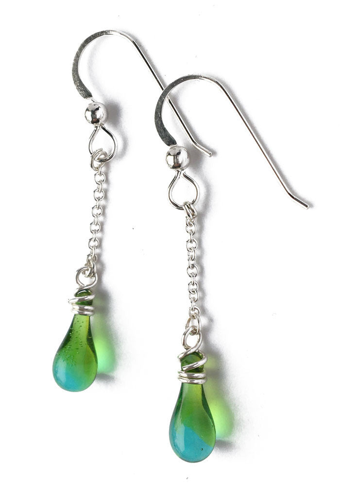Solandra Earrings - glass Earrings by Sundrop Jewelry