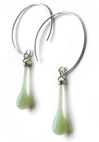 Jadeite Circle Earrings, medium