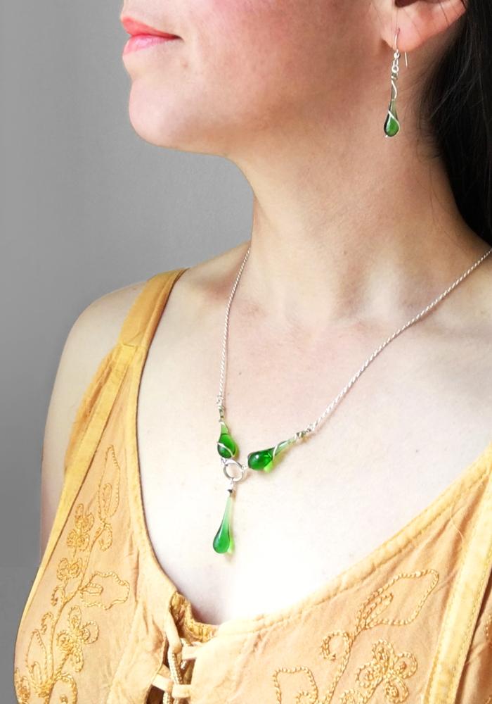 Andromeda Necklace - glass Necklace by Sundrop Jewelry