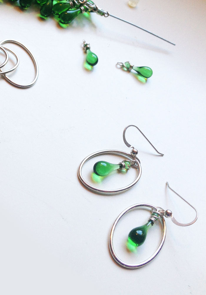 Cameo Earrings - glass Earrings by Sundrop Jewelry
