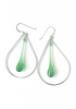 Laceleaf Earrings - glass Earrings by Sundrop Jewelry