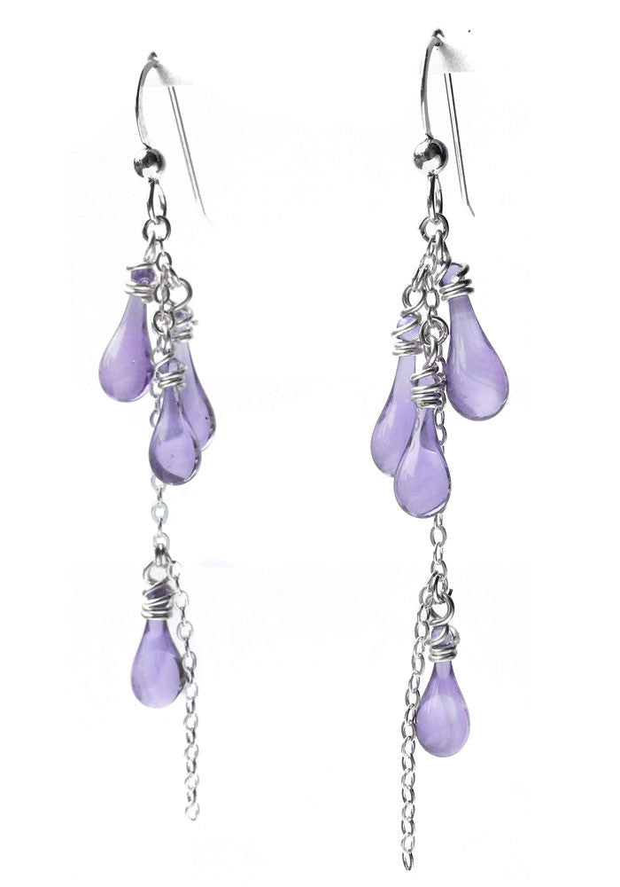 Collina Earrings - glass Earrings by Sundrop Jewelry