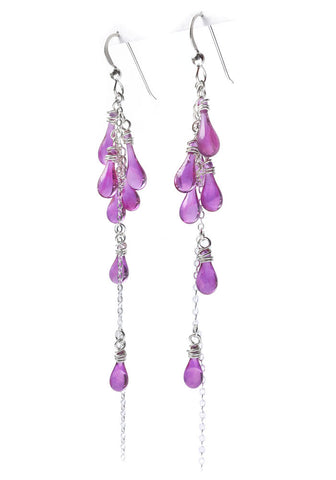 Magenta Lanata Earrings