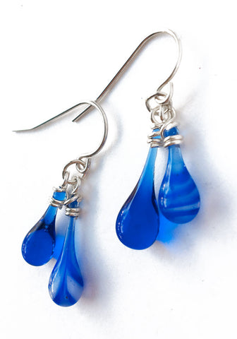 Blue Swirl Chime Earrings