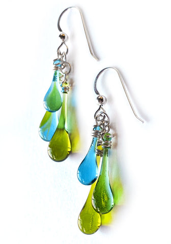 Sargasso Sea Trio Earrings
