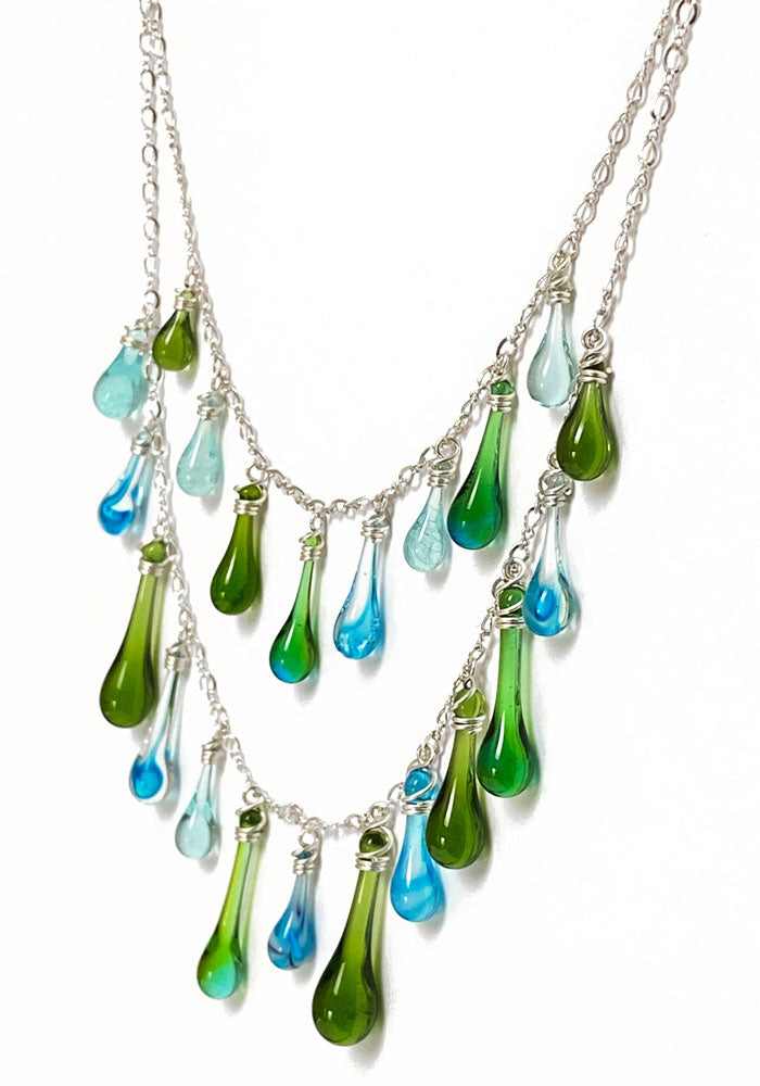 Sargasso Sea Waterfall Necklace
