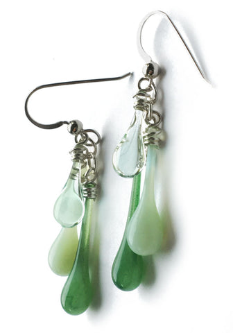 Spring Greens Trio Earrings