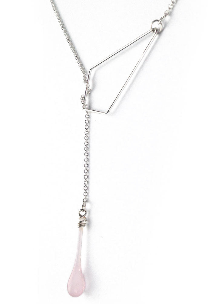Sterling silver lariat necklace by Sundrop Jewelry