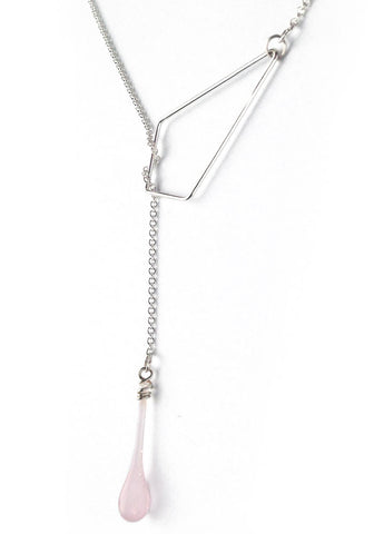 Silver Kite Lariat Necklace