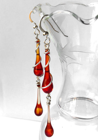 Strike Red Bohemian Earrings