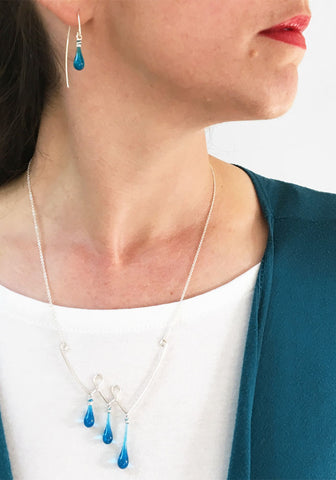 Asymmetric Valleys Necklace
