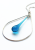 Laceleaf Necklace - glass Necklace by Sundrop Jewelry