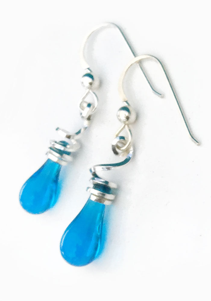Tendrils Earrings, Short - glass Earrings by Sundrop Jewelry