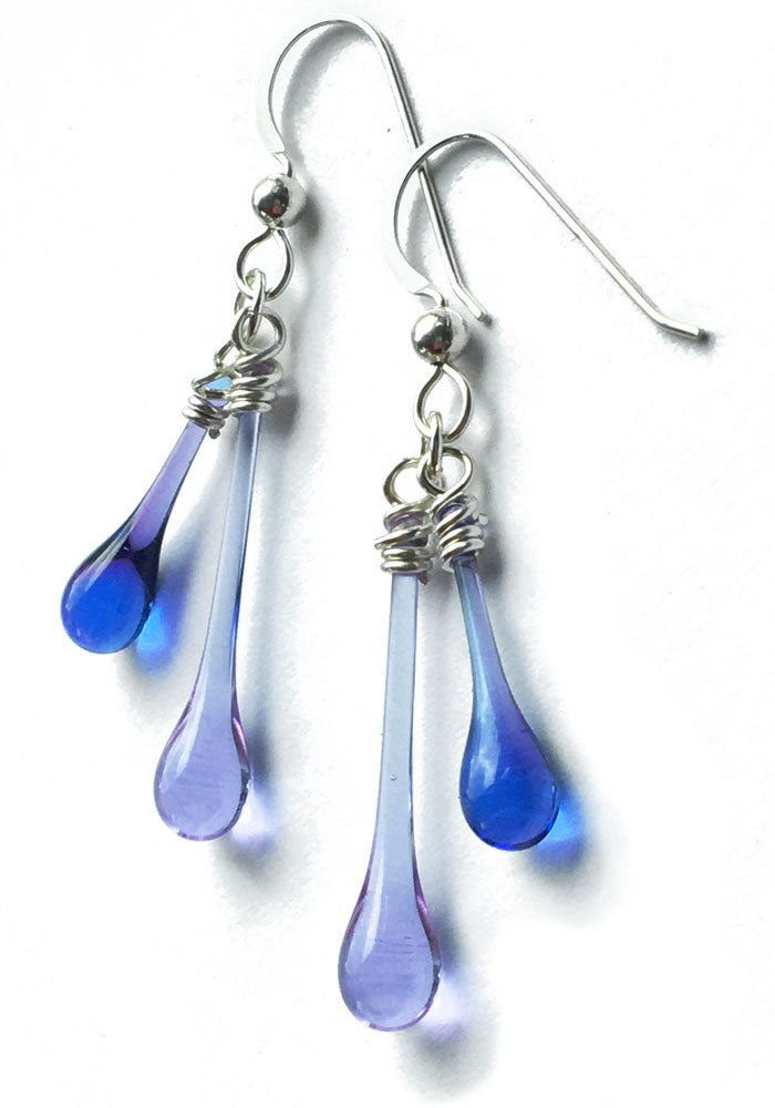 Duet Earrings - glass Earrings by Sundrop Jewelry