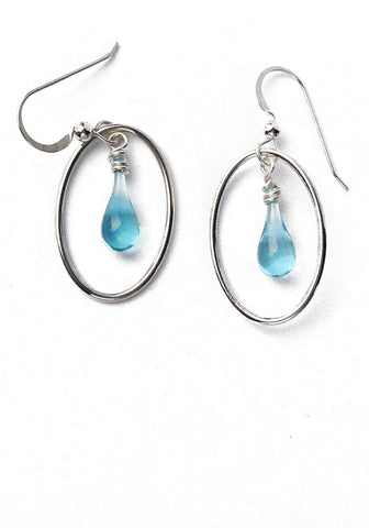 Water Cameo Earrings