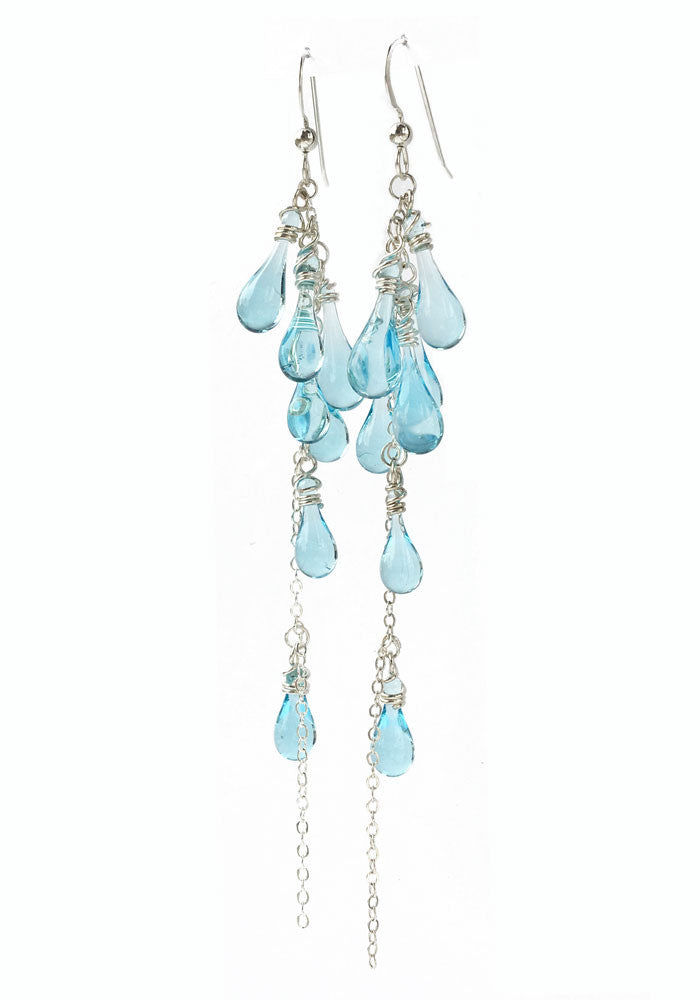 Water Lanata Earrings - glass Earrings by Sundrop Jewelry