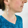 Ribbon Earrings, Long - glass Earrings by Sundrop Jewelry
