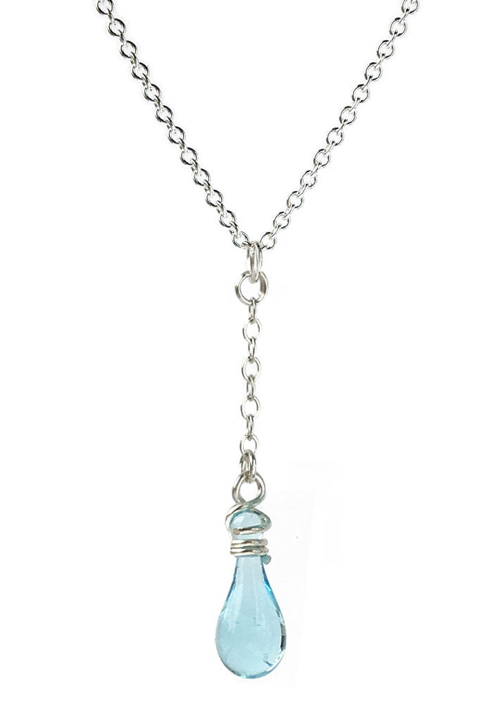 Solandra Y-Necklace - glass Jewelry by Sundrop Jewelry
