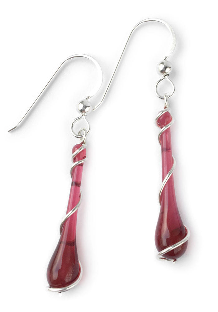 October Birthstone: Watermelon Tourmaline - glass Jewelry by Sundrop Jewelry