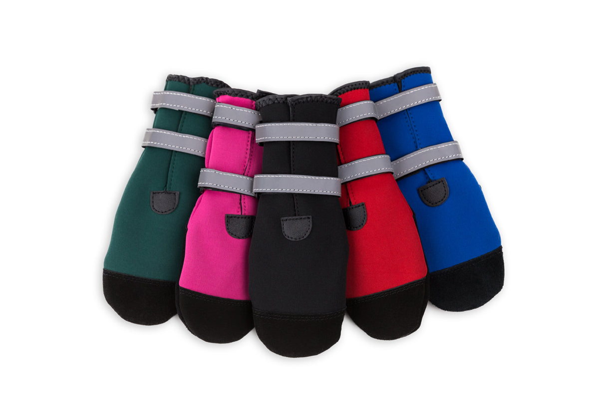 "PAWSH PADS ""Easy to Get On"" Dog Boots - Style SCUBA-REF with Reflective Straps"
