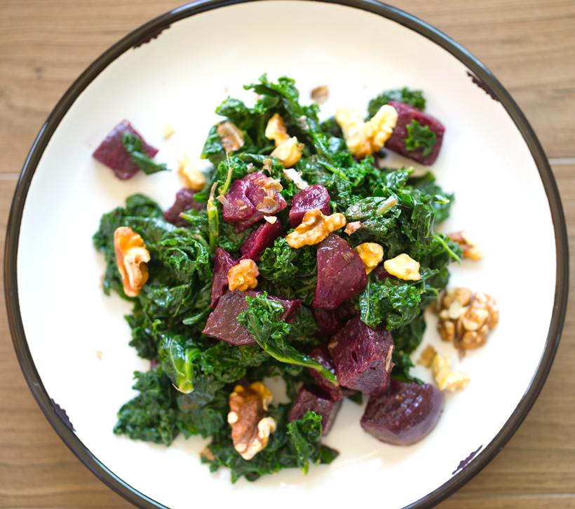 Veestro roasted beet and kale salad by Kathy Patalsky