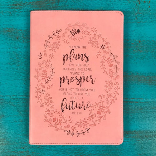 I know the plans pink journal