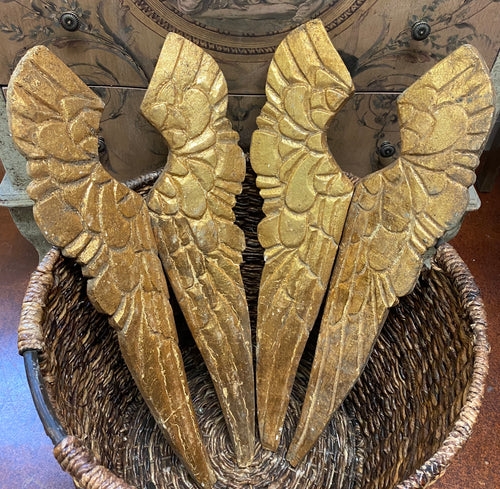 Gold angel wings (1 set)
