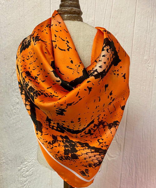 Orange Snakeskin Scarf
