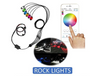 6 Piece Rock light kit. Bluetooth controlled- RGB 16 million colors.
